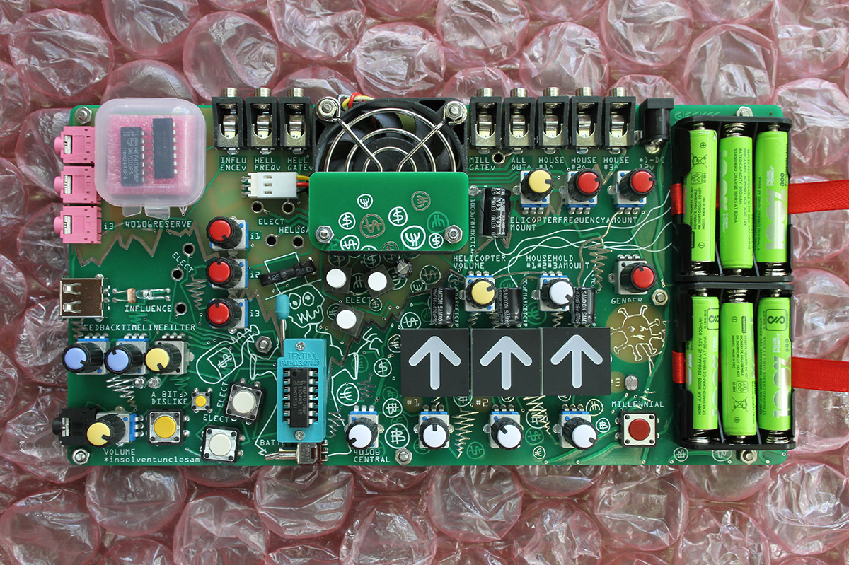 The Insolventunclesam is a synth about printing money, by Gijs Gieskes