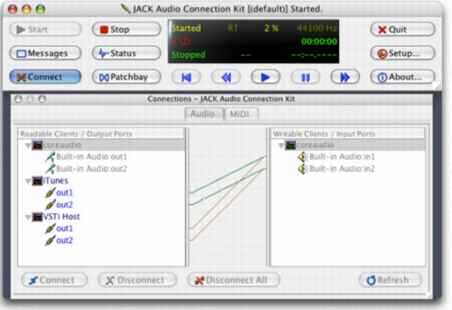 Mactel Watch: JACK for OS X now Universal